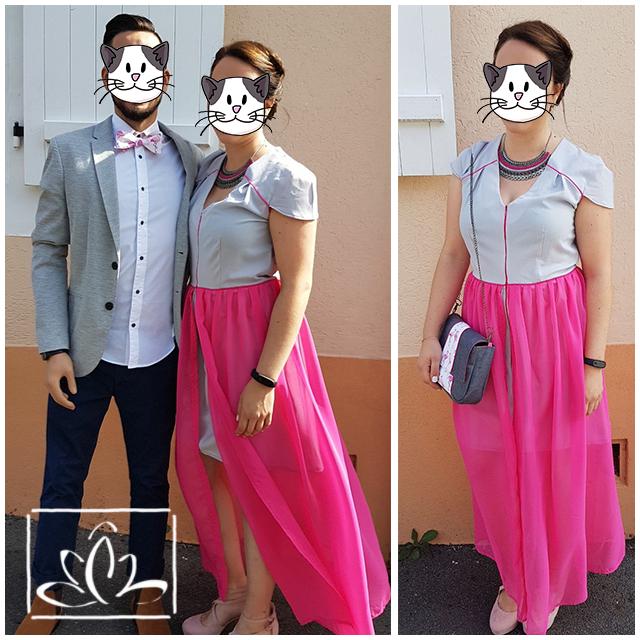 Duo mariage - (Robe sur mesure, pochette + noeud papillon)