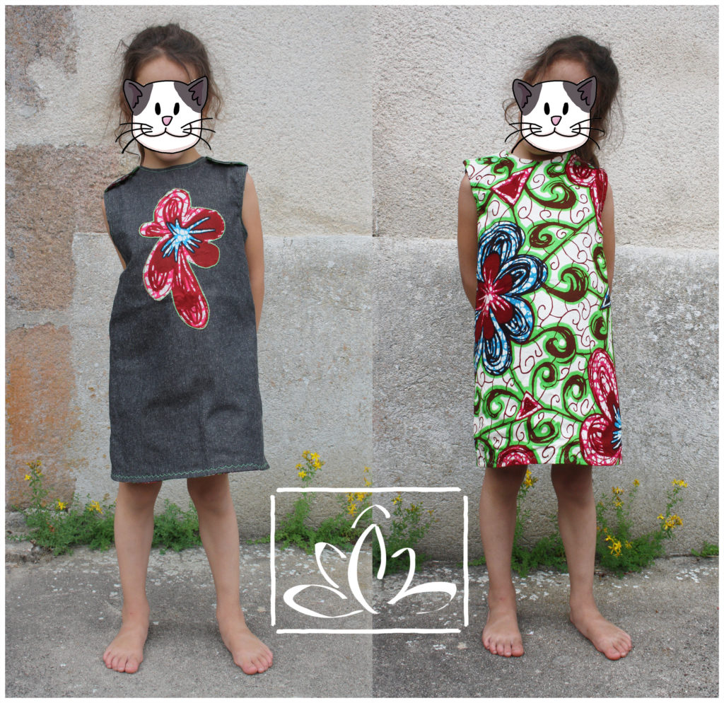 Robe réversible - taille 7 ans