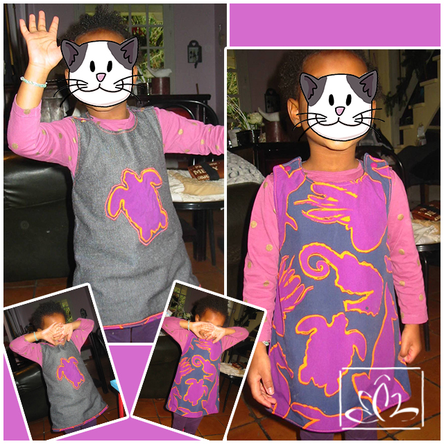 Robe réversible - taille 4 ans
